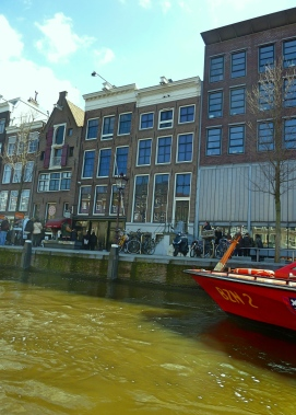 Anne Frank house (left, pointy roof)