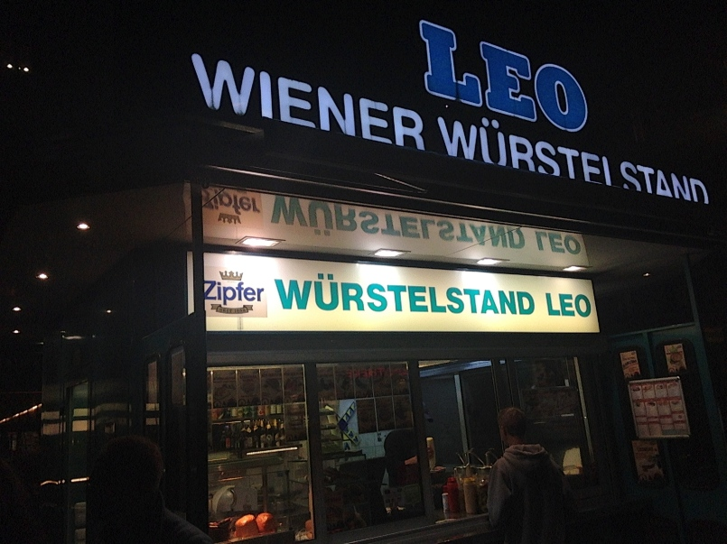 Finished the night at Vienna's oldest wurstel stand.