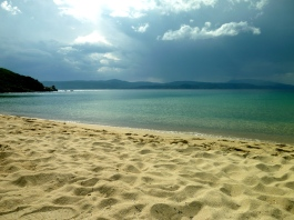 The best for last: Mandraki Beach, before a storm.