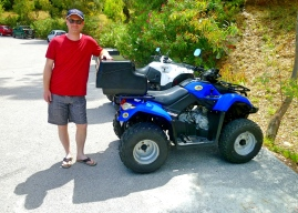 A man and his ATV.