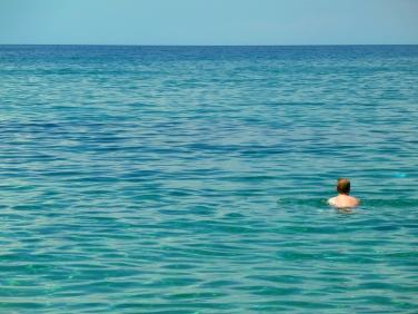 Matt at Megalos Aselinos Beach.