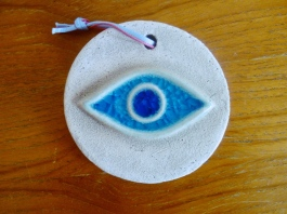 Protective charms against the evil eye were everywhere.