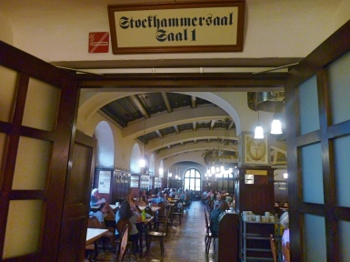 One of several indoor drinking halls
